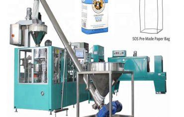 automatisk papperspåse förpackningslinje för mjöl