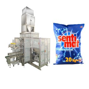 Automatisk Premade Big Bag Packing Machine Diskmedel Pulver Open-mouth Bagger
