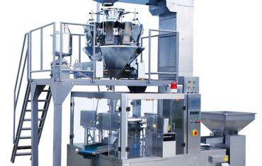 Automatisk kaffebönsmat roterande dragkedja påseförpackningsmaskin
