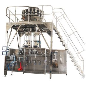 Horisontell Pre-made Packing Machine med Multihead Scales för Granules