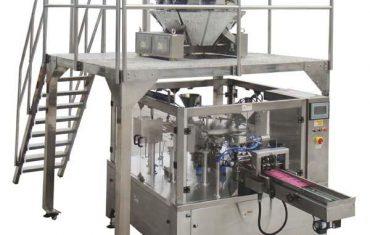 roterande automatisk dragkedja påse fyllningsförpackningsmaskin för frösmuttrar