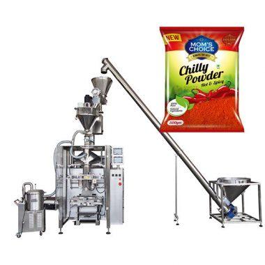 vffs bagger packningsmaskin med skruvfyllare för paprika och chili matpulver
