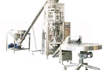 granulär vertikal form fyllning tätningsmaskin med volymkopp