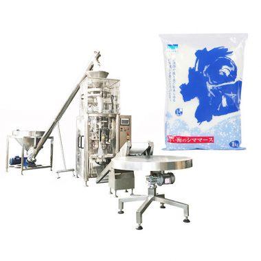 Salt vertikal form fyllning tätningsmaskin med volymkopp